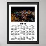 2015 calendario Las Vegas en el marco gráfico de Poster