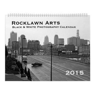 2015 calendario negro y blanco de la fotografía