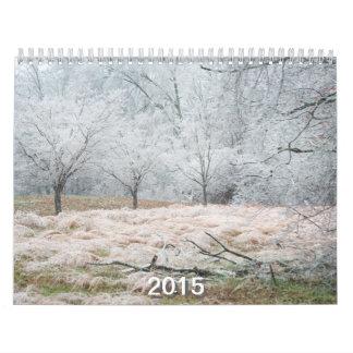 2015 calendario, Tennessee, Illinois, familia