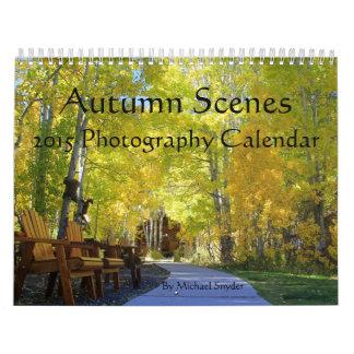 """2015 """"calendarios de las escenas del otoño"""" calendario"""