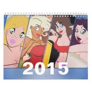 2015 Cartoon Pin-Up Calendar