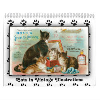 2015 Cats in Vintage Illustrations Calendar