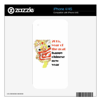 2015 Chinese new Goat year animal zodiac cycle Decal For iPhone 4S