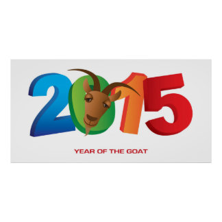 2015 Chinese New Year of the Goat Poster