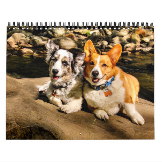 2015 con Charlie y Maggie Calendario De Pared