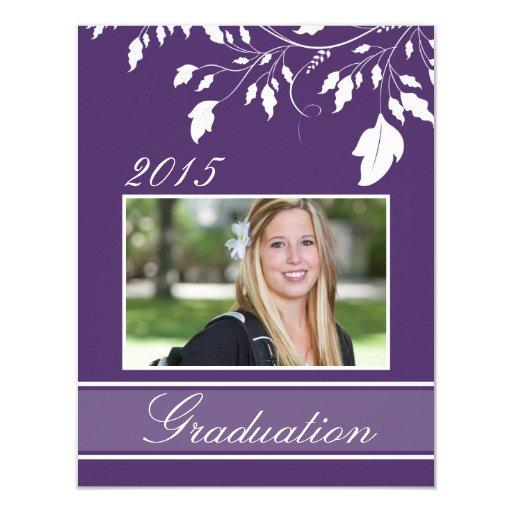 2015 custom purple photo graduation announcements zazzle - Personalized Graduation Invitations