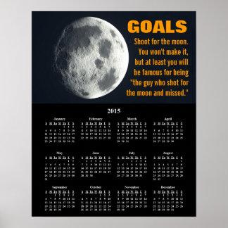 2015 Demotivational Calendar Goal Setting Poster