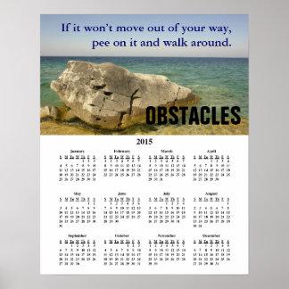 2015 Demotivational Calendar Obstacles Poster