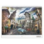 2015 Digitaces surrealistas y arte de la fantasía Calendario