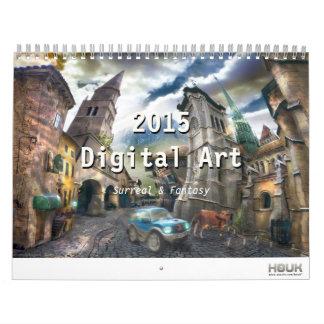 2015 Digitaces surrealistas y arte de la fantasía Calendarios De Pared