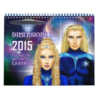 2015 Dimensions 3 Wall Calendar