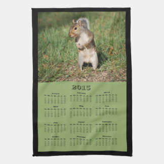 2015 Eastern Gray Squirrel Cloth Calendar Hand Towel