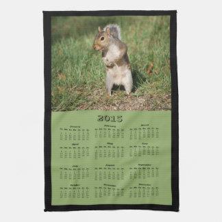 2015 Eastern Gray Squirrel Cloth Calendar Towel