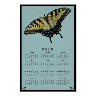 2015 Eastern Tiger Swallowtail calendar Poster
