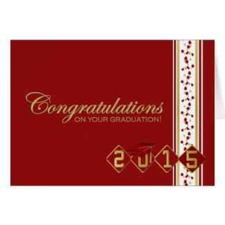 2015 enhorabuena en su tarjeta de la graduación