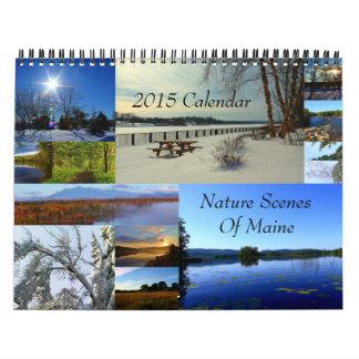 2015 escenas de la naturaleza del calendario de