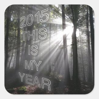 2015 éste es mi año pegatina cuadrada