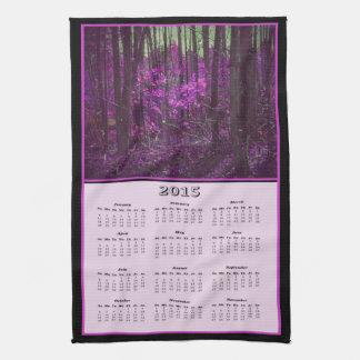 2015 Faded Lavender Dreams Cloth Calendar Hand Towel