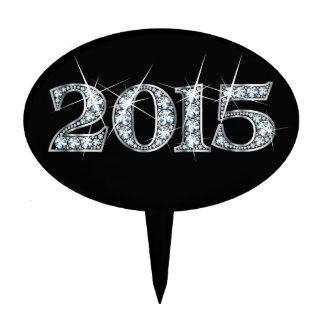 "2015 Falsas ""muestras de Bling del diamante"" Figura De Tarta"