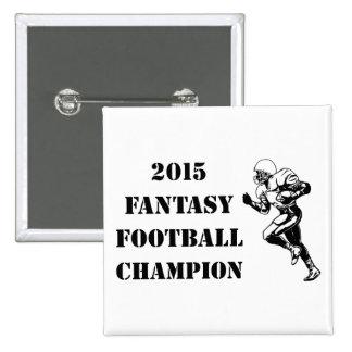2015 Fantasy Football Champion 2 2 Inch Square Button