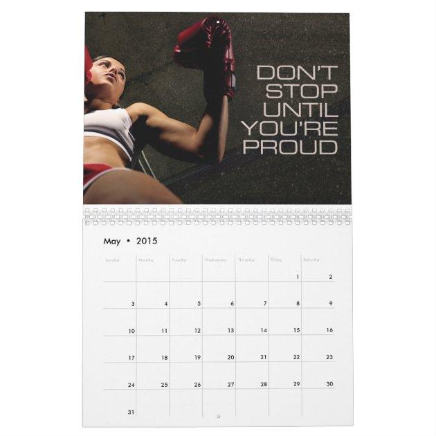 2015 Fitness Motivational Calendar For Women | Zazzle