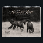 """2015 Forest Boyz Calendar<br><div class=""""desc"""">Meike,  Menno &amp; Saphire are Friesian stallions that live free in a bachelor herd in the forests of the northern California coast. They are owned and photographed by Laura Zugzda. You can see more of them at ForestBoyz.com,  or visit us on Facebook.</div>"""