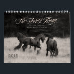"2015 Forest Boyz Calendar<br><div class=""desc"">Meike,  Menno &amp; Saphire are Friesian stallions that live free in a bachelor herd in the forests of the northern California coast. They are owned and photographed by Laura Zugzda. You can see more of them at ForestBoyz.com,  or visit us on Facebook.</div>"