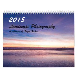 2015, fotografía del paisaje calendario de pared
