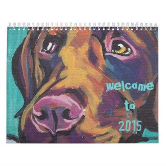 2015 Fun Dog Art Calendar