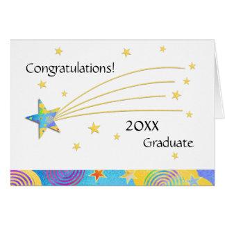 2015 Fun Starry Graduation Greeting Card