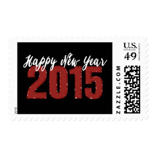2015 Glitter | Happy New Year Holiday Stamps