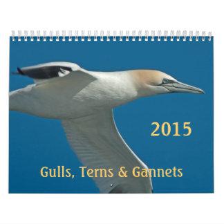 2015 golondrinas de mar, gaviotas y calendario
