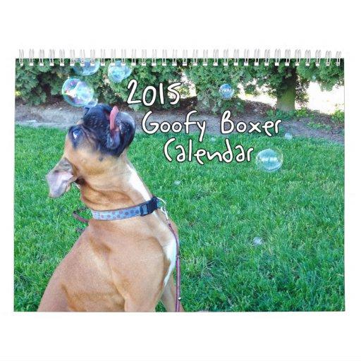 2015 Goofy Boxer Calendar