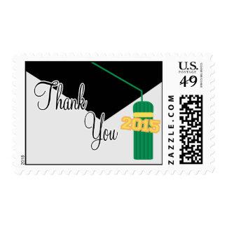 2015 gracias (casquillo y la borla verdes de la sellos