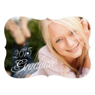 """2015 Grad Girly Photo Graduation Party Invitation 5"""" X 7"""" Invitation Card"""