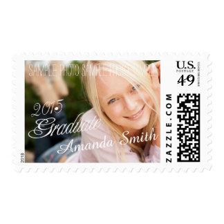 2015 Grad Girly Photo Graduation Postage Stamp