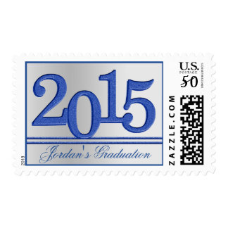 2015 Graduate Silver and Blue Postage
