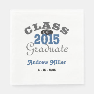 2015 Graduation Party - Blue Standard Luncheon Napkin