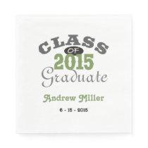 2015 Graduation Party - Green Paper Napkin