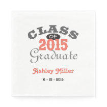 2015 Graduation Party - Peach Napkin