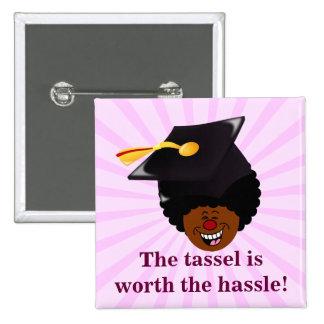 2015 Graduation Tassel Hassle 2 Inch Square Button