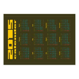 2015 Green Pocket Calendar & Business Card in One