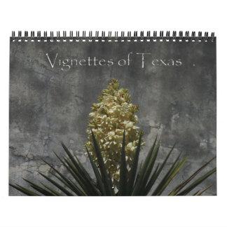 2015 ilustraciones de Tejas Calendario