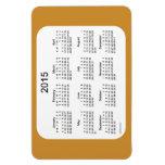 2015 imán del oro 4x6 del calendario