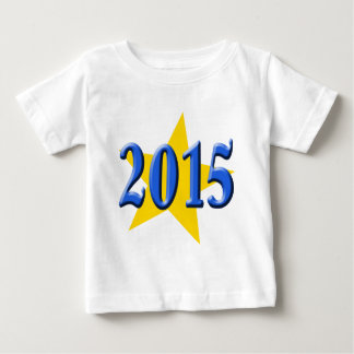 2015 in Blue Font with Gold Star Baby T-Shirt