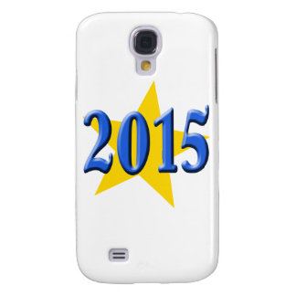 2015 in Blue Font with Gold Star Galaxy S4 Cover