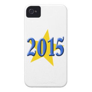 2015 in Blue Font with Gold Star iPhone 4 Case-Mate Case