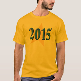 2015 in Blue Font with Gold Star T-Shirt