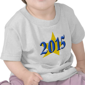 2015 in Blue Font with Gold Star Tees