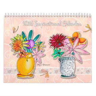 2015 Inspirational Calendar Flower Inspiring Quote